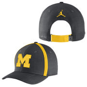 Jordan University of Michigan Football Anthracite Aerobill Sideline Coaches Dri-FIT Hat