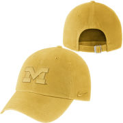 Nike University of Michigan Maize Pigment Washed Heritage86 Unstructured Hat