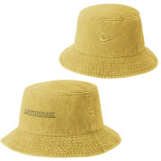 Nike University of Michigan Maize Pigment Washed Bucket Hat