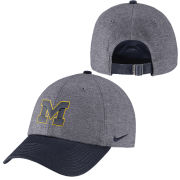 Nike University of Michigan Charcoal Heather Gray  Navy Heritage86  Unstructured Hat c1bdf0b325d7