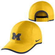Nike University of Michigan Maize Dri-FIT Featherlight Unstructured Hat