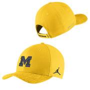58d32c4e94d Jordan University of Michigan Football Maize Sideline Dri-FIT Structured Hat