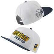 Nike University of Michigan Sports Specialties White College Vault Wolverine Shadow Flat Brim Snapback Hat
