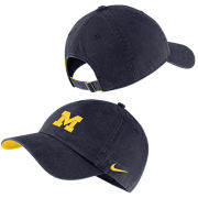 Nike University of Michigan Washed Navy Heritage86 Small Block ''M'' Logo Unstructured Hat