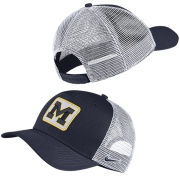 Nike University of Michigan Navy Classic99 Trucker Patch Meshback Snapback Hat