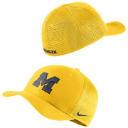 Jordan University of Michigan Maize Classic99 Meshback Flex Fit Hat