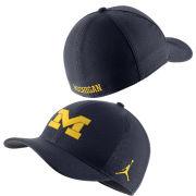 Jordan University of Michigan Football Navy Classic99 Sideline SwooshFlex Hat