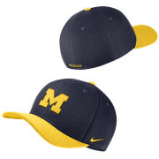 Nike University of Michigan Navy/Yellow Classic99 Dri-FIT Swoosh Flex Hat