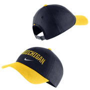 Nike University of Michigan Navy/Yellow Heritage86 Arched Michigan Unstructured Hat