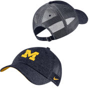Nike University of Michigan Heather Navy Terry Heritage86 Meshback Slouch Hat