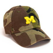 Nike University of Michigan Washed Camo Heritage86 Small Block ''M'' Logo Unstructured Hat