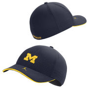 Jordan University of Michigan Football Navy Aerobill Flex Fit Sideline Hat