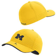 Jordan University of Michigan Football Maize Aerobill Flex Fit Sideline Hat