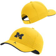 Jordan University of Michigan Football Maize Aerobill Adjustable Sideline Hat