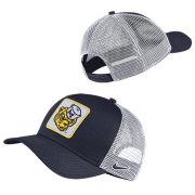 Nike University of Michigan Navy Classic99 College Vault Trucker Patch Meshback Snapback Hat