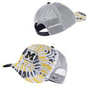 Nike University of Michigan White Classic99 Festival Tie-Dye Patch Meshback Snapback Hat