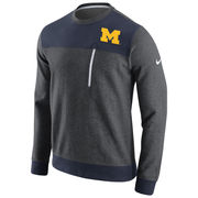 Nike University of Michigan Navy/ Charcoal AV15 Crewneck Sweatshirt