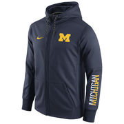 Nike University of Michigan Navy Circuit Full Zip Hooded Sweatshirt