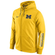Nike University of Michigan Yellow Circuit Full Zip Hooded Sweatshirt