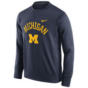 Nike University of Michigan Navy Circuit Crewneck Sweatshirt