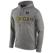 Nike University of Michigan Football Charcoal Gray Performance Hood