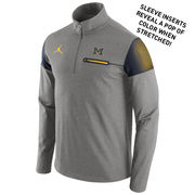 Jordan University of Michigan Football Heather Gray Elite Coaches 1/4 Zip