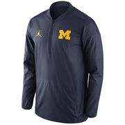 Jordan University of Michigan Football Navy Lockdown Half Zip Pullover Jacket