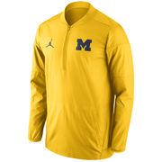 Jordan University of Michigan Football Yellow Lockdown Half Zip Jacket