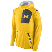 Nike University of Michigan Yellow Vapor Speed Fly Rush Pullover Jacket