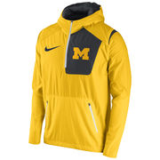 Nike University of Michigan Yellow Speed Fly Rush Pullover Jacket