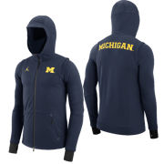 Jordan University of Michigan Football Capsule Collection Navy Full Zip Hooded Sweatshirt