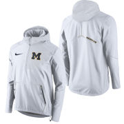 Nike University of Michigan White Speed Fly Rush Flash Half Zip Jacket