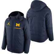 Jordan University of Michigan Football Navy Sideline Flash Heavyweight Jacket