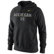 Nike University of Michigan Black Camouflage Hooded Sweatshirt