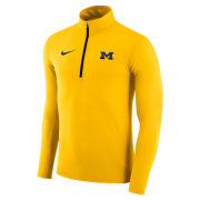 Nike University of Michigan Yellow Dri-FIT Element 1/4 Zip Pullover