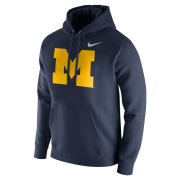 Nike University of Michigan Navy Stadium Club Block ''M'' Logo Hooded Sweatshirt