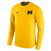 Jordan University of Michigan Football 2017 Yellow Modern Crewneck Sweatshirt
