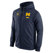 Jordan University of Michigan Football Navy DNA Therma-FIT Full Zip Hooded Sweatshirt