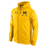 Jordan University of Michigan Football Yellow DNA Therma-FIT Full Zip Hooded Sweatshirt
