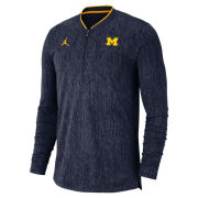 Jordan University of Michigan Football Heather Navy Coaches 1/2 Zip Pullover