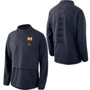 Jordan University of Michigan Football Navy J23 1/4 Zip Pullover Jacket