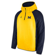 Jordan University of Michigan Football Maize 1/4 Zip Hybrid Hooded Pullover Jacket