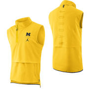 Jordan University of Michigan Football Maize J23 Sleeveless 1/4 Zip Pullover Jacket