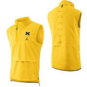 Jordan University of Michigan Football Maize J23 Sleeveless 1/4 Zip Pullover Jacket