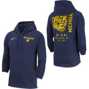 Nike University of Michigan Navy College Vault Wolverine Jersey Club Hooded Tee