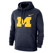 Nike University of Michigan Navy Stadium Club Block ''M'' Hooded Sweatshirt