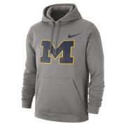Nike University of Michigan Gray Stadium Club Block ''M'' Hooded Sweatshirt