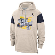 Jordan University of Michigan Football Birch White Hooded Sweatshirt