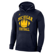 Jordan University of Michigan Football Head Coaches Navy Sideline Stadium Club Hooded Sweatshirt