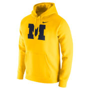 Nike University of Michigan Maize Stadium Club Block ''M'' Hooded Sweatshirt
